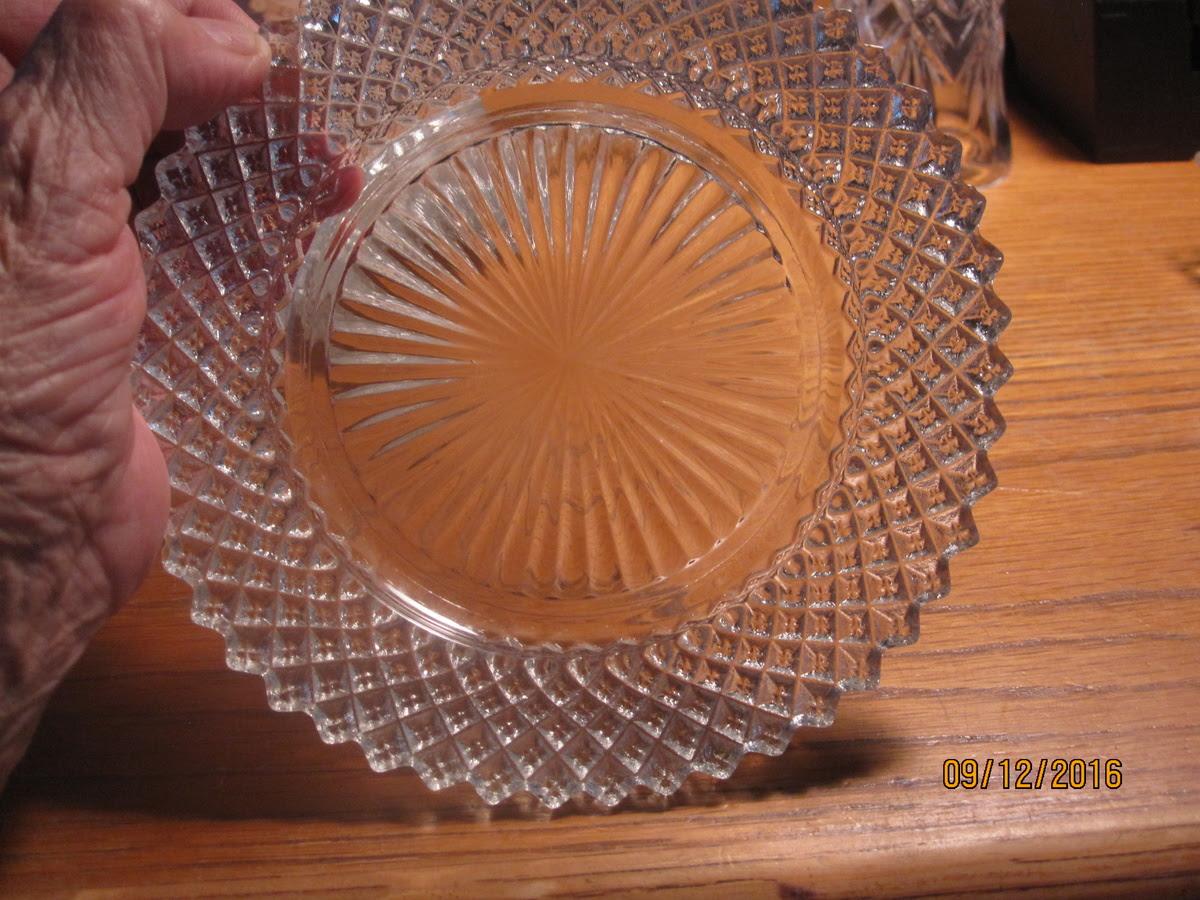 small depression glass diamond pattern plate | Collectors ...
