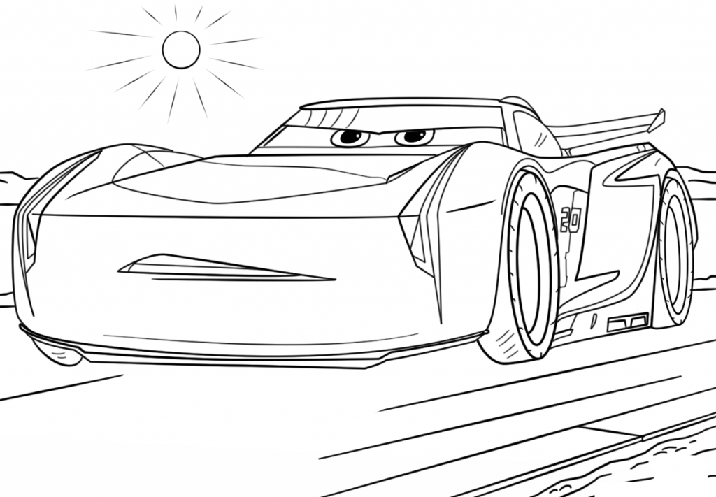 Cars Coloring Pages Printable 1024x711