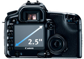 The Canon 30D's 2.5-inch LCD