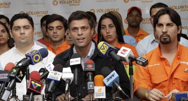 Leopoldo López, coordinador nacional del partido de derecha Voluntad Popular