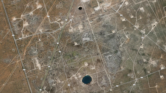 Two giant sinkholes in West Texas expanding, researchers say
