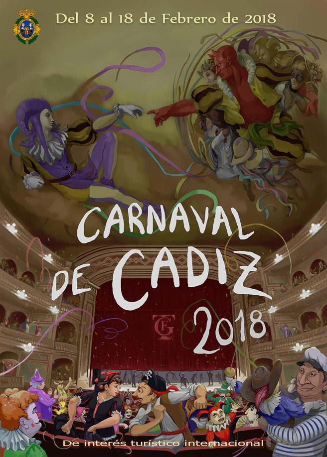 Cartel carnaval de Cádiz