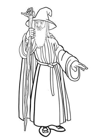 Disegno Di Gandalf Da Colorare Disegni Da Colorare E Stampare Gratis