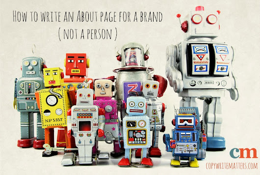 How to write an About page for a brand (not a person)