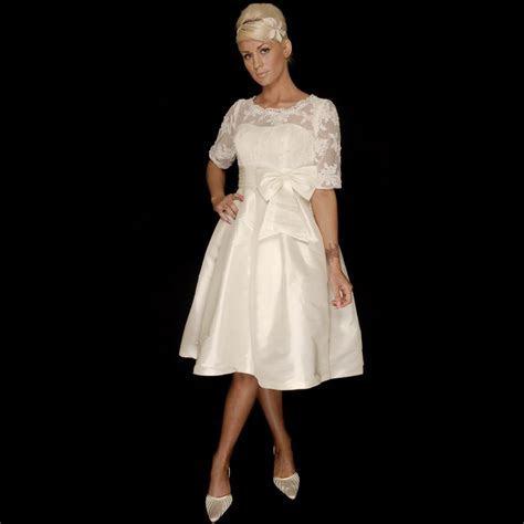 Josie Tea Length 1950s Style Short Wedding Dress With