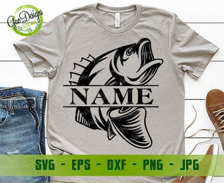 Download Fish Monogram Svg Bass Fish Svg Fishing Svg Files For Silhouette Cricu
