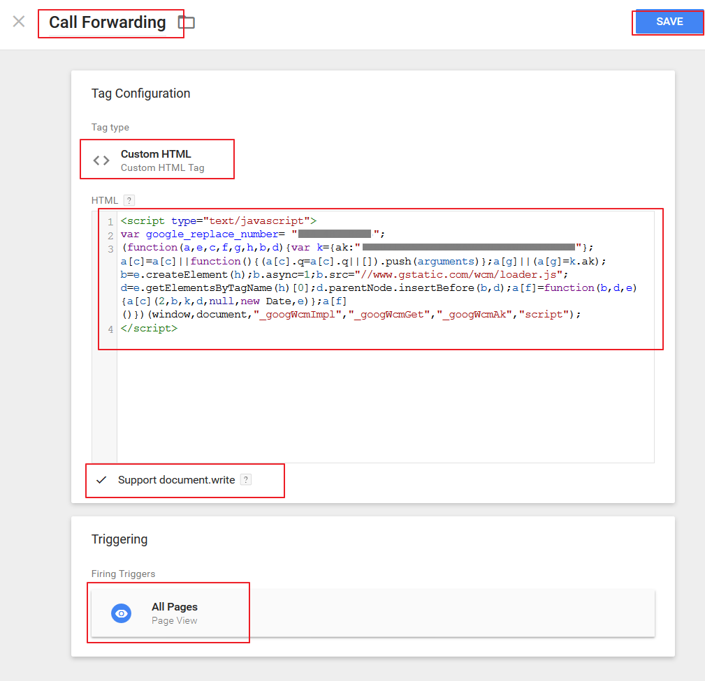 How to Set Up AdWords Website Call Forwarding in GTM