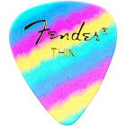 Fender 351 Shape Graphic Picks, 12 Pack, Thin, Rainbow