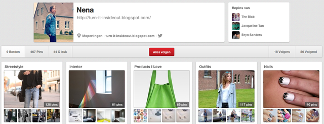 pinterest account turn it inside out fashion blogger belgium boards pins