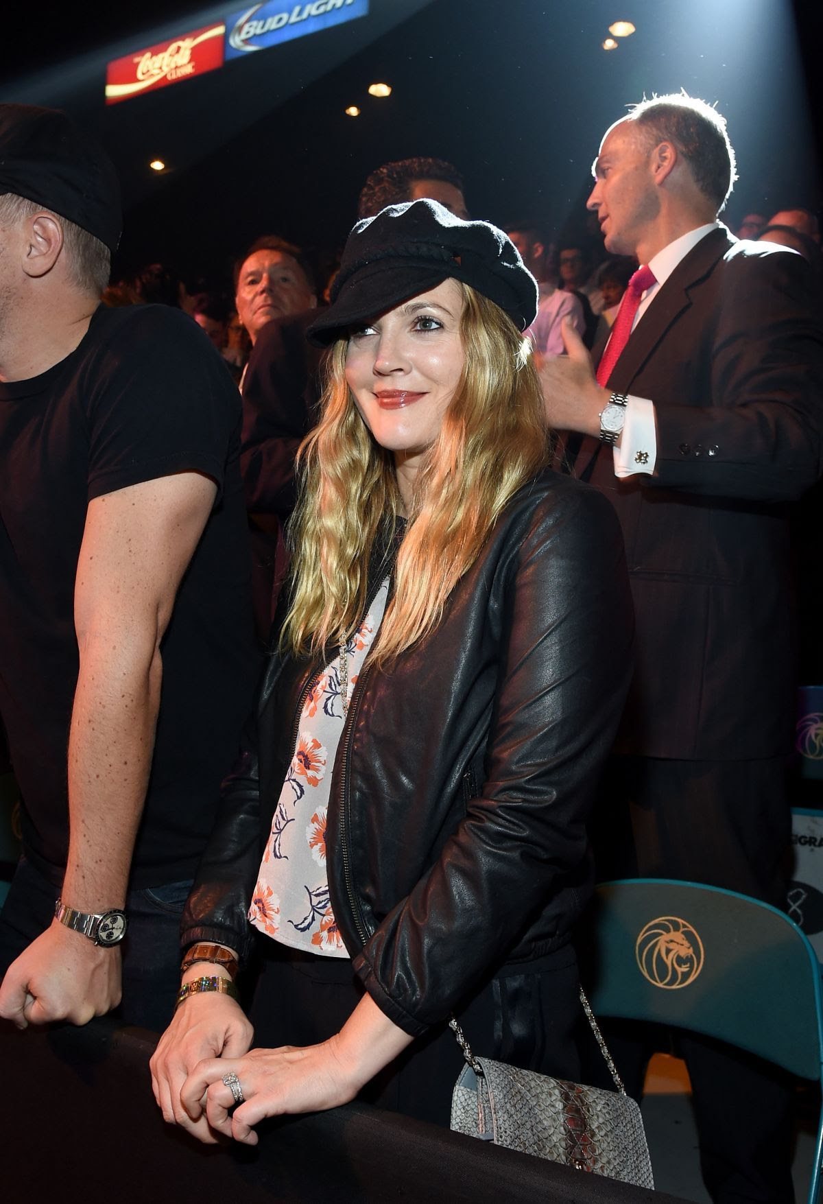 DREW BARRYMORE at Mayweather vs Pacquiao Boxing Match in Las Vegas