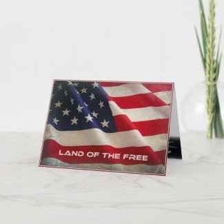 Land Of The Free Veterans Day Greeting Card