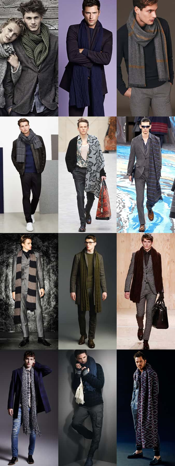 Men's Oversized Scarves and Mankets - Autumn/Winter Outfit Inspiration Lookbook