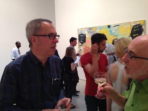 Raphael Rubinstein, curator, with artist Gary Stephan