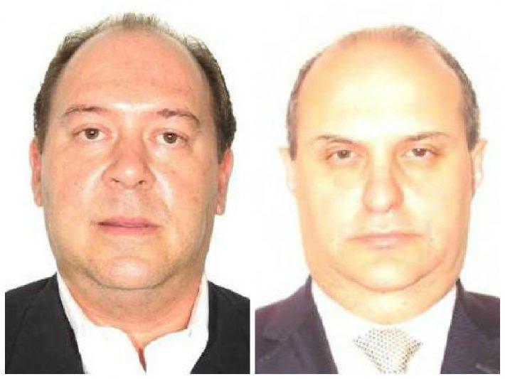 Os executivos da Camargo Corrêa Eduardo Leite (esq.) e Dalton Avancini, que terão que usar tornozeleira eletrônica em prisão domiciliar/Reprodução