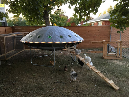 A UFO Chicken Spaceship Coop that is Out of This World