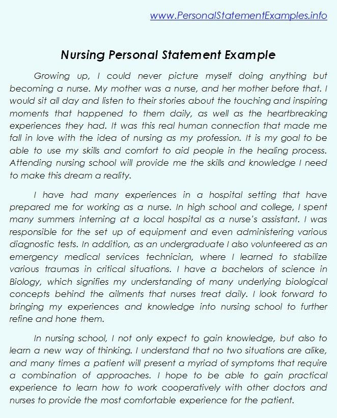 nursing personal statement