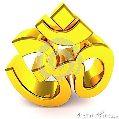 Om Hindu Religious Symbol Stock Images - Image: 24560994