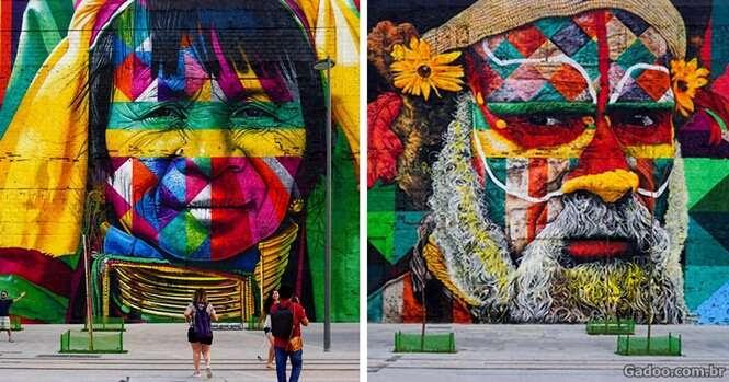 Conheça o mural gigante feito por um artista brasileiro nos Jogos Olímpicos
