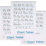 Pacon 085340 Pacon Chart Tablet Assortment 24 x 32 in. White 25 Sheets Each - Pack of 12