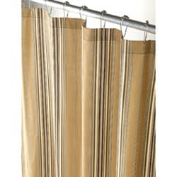 Tan Market Stripe Canvas Extra Long Shower Curtain | Overstock.