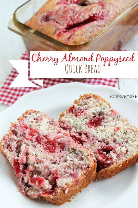 Cherry Almond Poppyseed Quick Bread Recipe | Perfect for Brunch, Picnics and Dessert