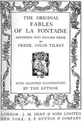 frontispiece: The Original Fables of La Fontaine
