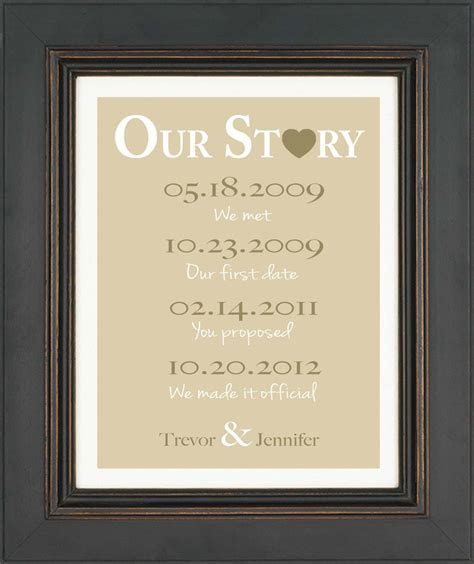 Wedding Gift for Couple  First Anniversary  Valentine's