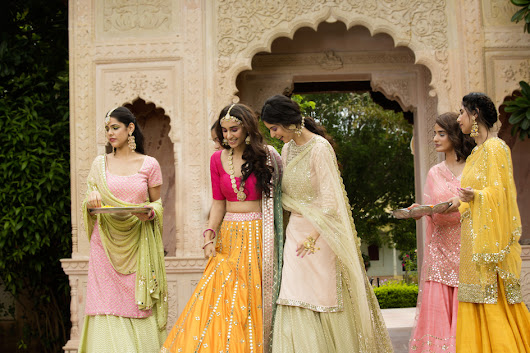 Where To Shop Mirror Work Lehengas From? + Lehenga Prices - Frugal2Fab