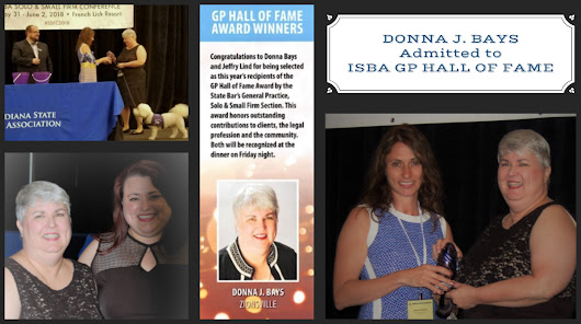 BFL Attorney Donna J. Bays admitted to ISBA GP Hall of Fame