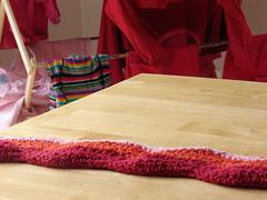 Ripple Blanket, Day 2 - in living colour