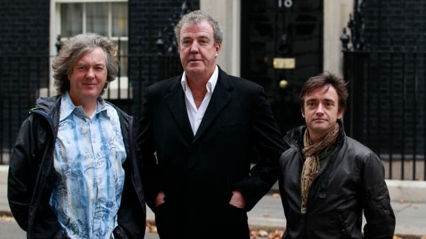Former Top Gear hosts (from left) James May, Jeremy Clarkson and Richard Hammond are preparing a new automotive show for Amazon Prime.