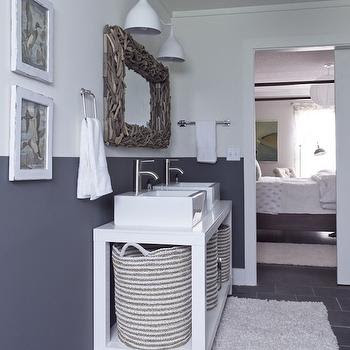 Two Tone Double Vanity - Cottage - bathroom - Phoebe Howard
