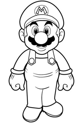 Dibujos De Super Mario Bros Para Colorear Paginas Para Imprimir Y