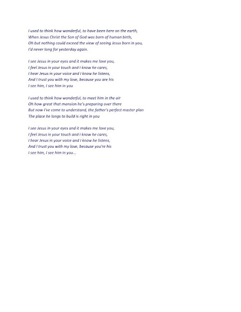I See Jesus In Your Eyes Rambo Mcguire Lyrics