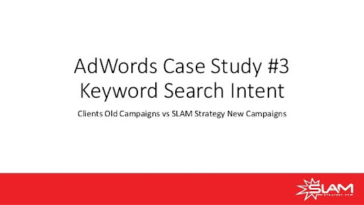 Ad words case study #3 keyword intent