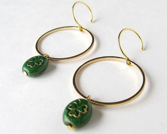 Lucky Hoop Earrings
