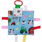 Baby Sensory Crinkle & Teething Square Lovey Toy (Farm Friends)