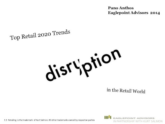 3 top disrupting trends for retail now and by 2020