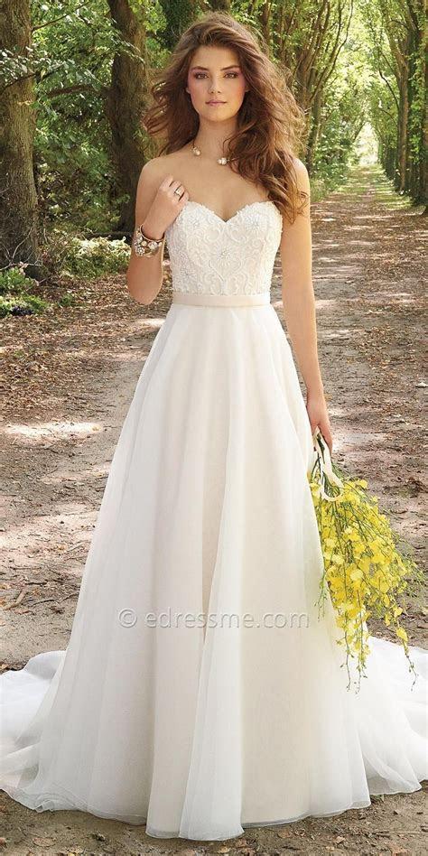 corset organza wedding dress  camille la vie strapless