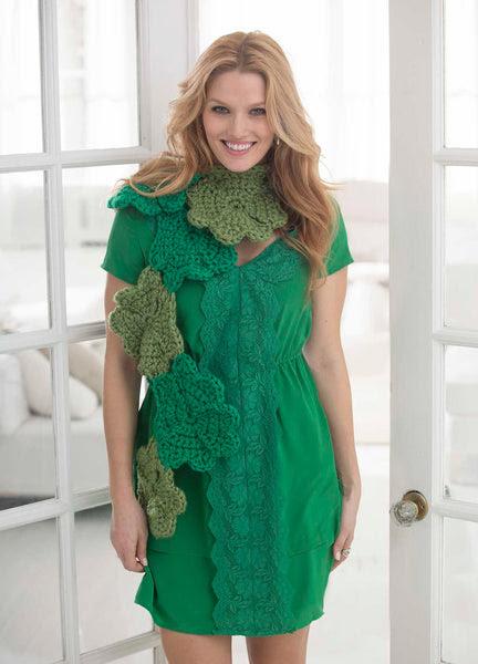 Lucky Shamrock Scarf Pattern (Crochet)