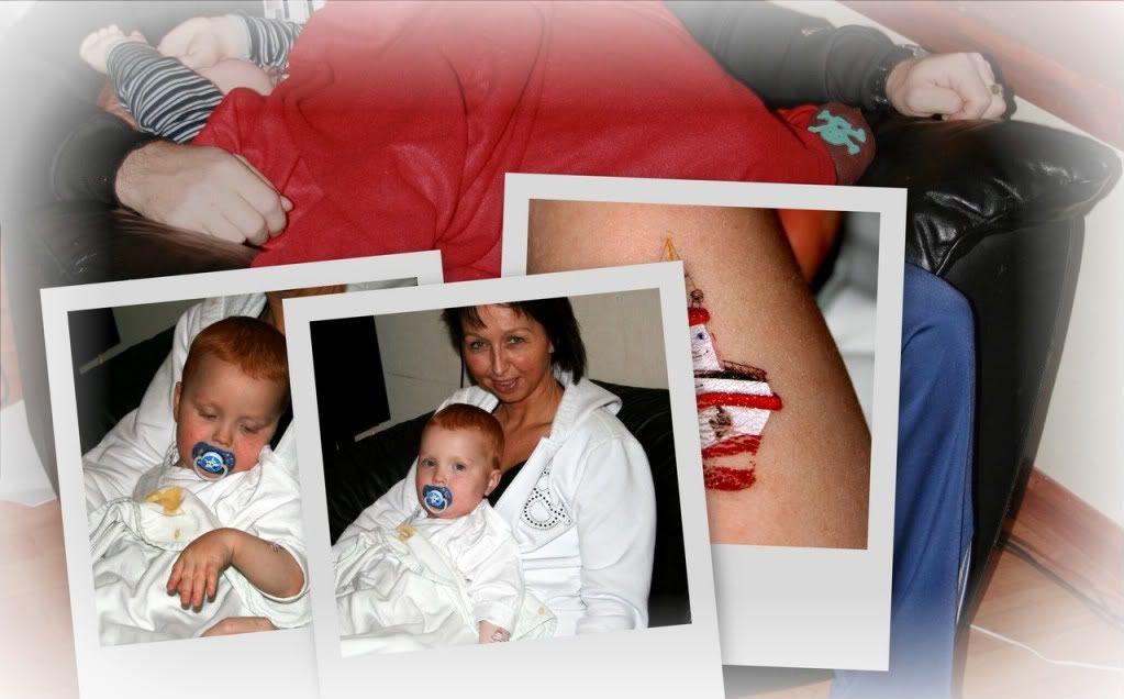 Kevin har spysyken og koser seg med mamma og pappa på fredag 19.12.08