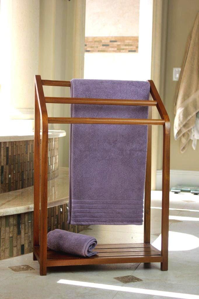 Versatile Free Standing Teak Towel Rack Lynnwoodplacecom