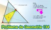 Problema de Geometría 134. Triangulo Órtico, Altura, Ortocentro, Bisectriz, Incentro, Circunferencia Inscrita, Angulo, Congruencia.