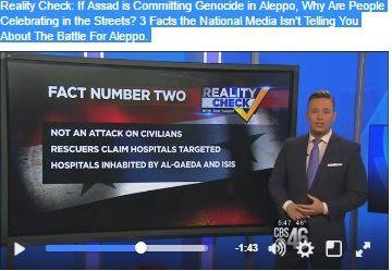 Giornalista della CBS attacca le bufale dei media sulla Siria: Se Assad sta commettendo un genocidio, perche' le persone festeggiano?