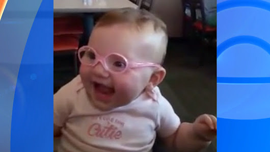 Must-see video: Baby sees clearly for the first time
