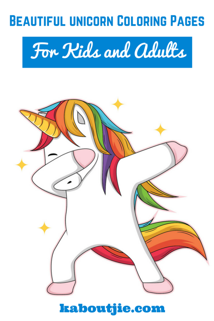 Beautiful Unicorn Coloring Pages For Kids and Adults - Douczer