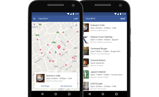 [ Wi-Fi Finder ] Facebook's Find Wi-Fi Helps You to find Wi-Fi access points across the globe