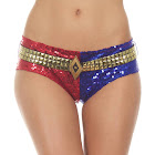 TV Store Suicide Squad Harley Quinn Deluxe Sequins Panty (Large)