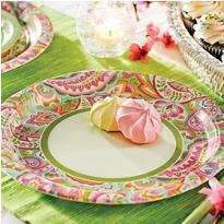 Linen Floral Party Supplies - Party City