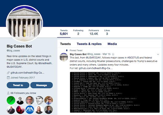 Twitter Bot Follows Federal Cases of Note; Posts Free Case Documents | Continuing Legal Education (MCLE) in California, MCLE Los Angeles, CLE Orange County, Irvine & San Francisco